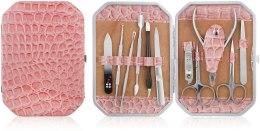 Духи, Парфюмерия, косметика Маникюрный набор, 11 предметов, розовый - Avenir Cosmetics