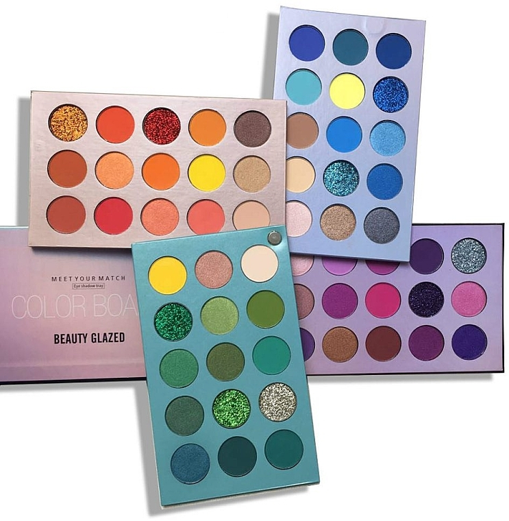 Палетка теней для век - Beauty Glazed Color Board
