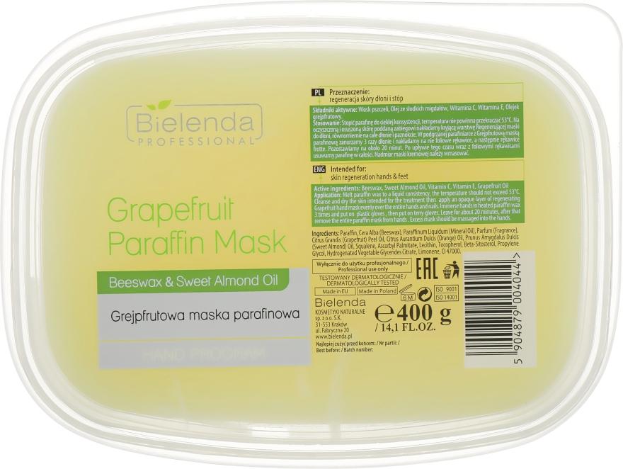 Парафиновая маска с грейпфрутом - Bielenda Professional Grapefruit Paraffin Mask Beeswax & Almond Oil