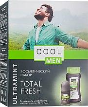 Духи, Парфюмерия, косметика Набор - Cool Men Ultramint Total Fresh (gel/250ml + deo/50ml)