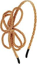 Духи, Парфюмерия, косметика Обруч-шнур для волос, оранжево-золотой - Элита