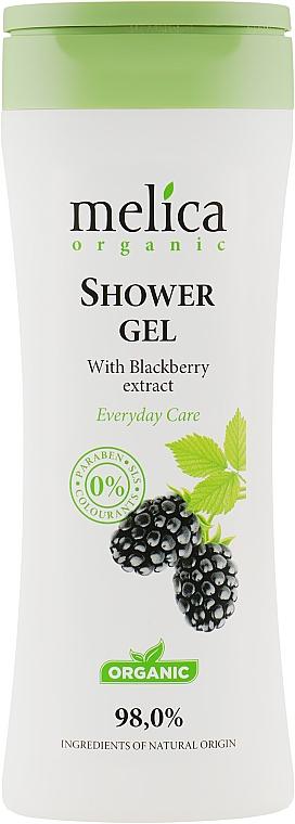 Гель для душа c экстрактом ежевики - Melica Organic Shower Gel
