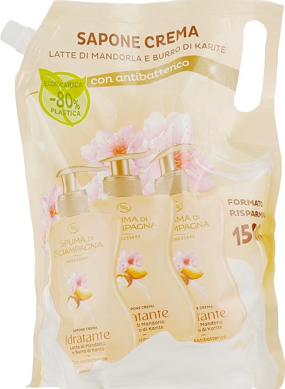 Жидкое мыло с миндальным молоком и маслом карите - Spuma di Sciampagna Liquid Soap (дой-пак)
