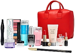 Духи, Парфюмерия, косметика Набор - Lancome Beauty Box Inter Set Xmas (rem/125ml + ser/20ml + cr/5ml + cr/15ml + tonic/75ml + b/lot/50ml + eye/palette + mascara/10ml + edp/4ml + lipstick/3.4g + lipstick/3g + crayon/1.8g + bag)