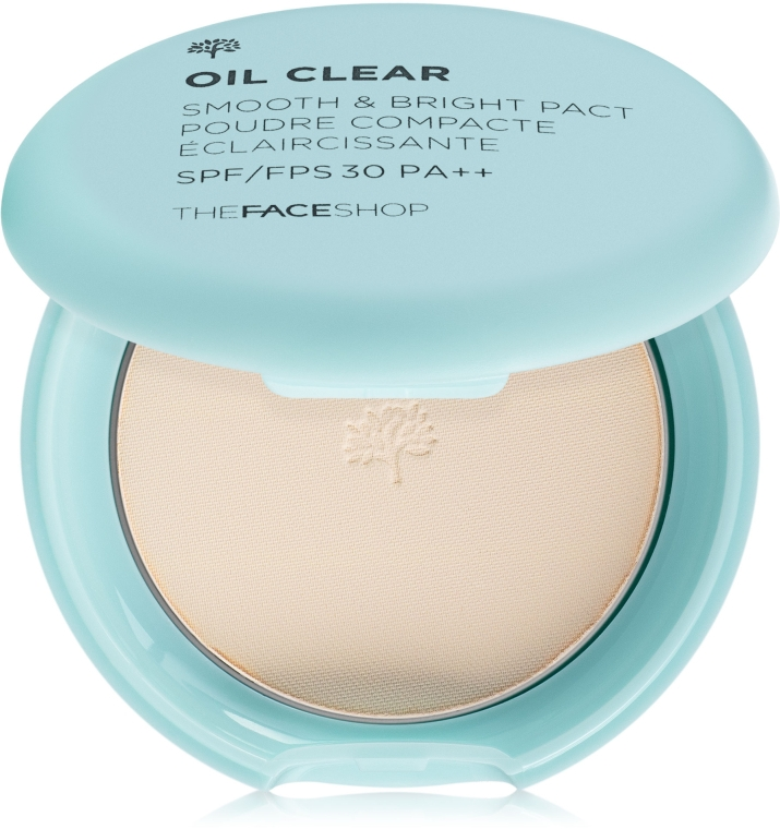 Матирующая пудра для гладкости и сияния кожи - The Face Shop Oil Clear Smooth&Bright Pact SPF30