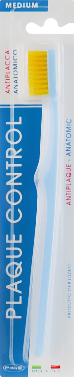 Зубная щетка «Контроль налета» средняя, голубая - Piave Toothbrush Medium