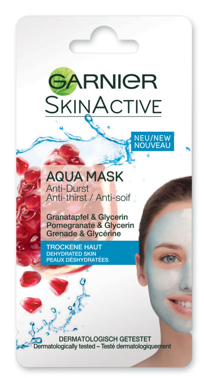 Увлажняющая аква-маска для лица - Garnier SkinActive Aqua Mask