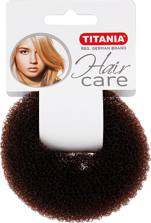 Зажим для волос объемный, коричневий, 8см - Titania