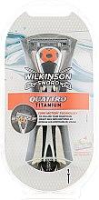 Духи, Парфюмерия, косметика Станок + 1 сменный картридж - Wilkinson Sword Quattro Titanium Core Motion