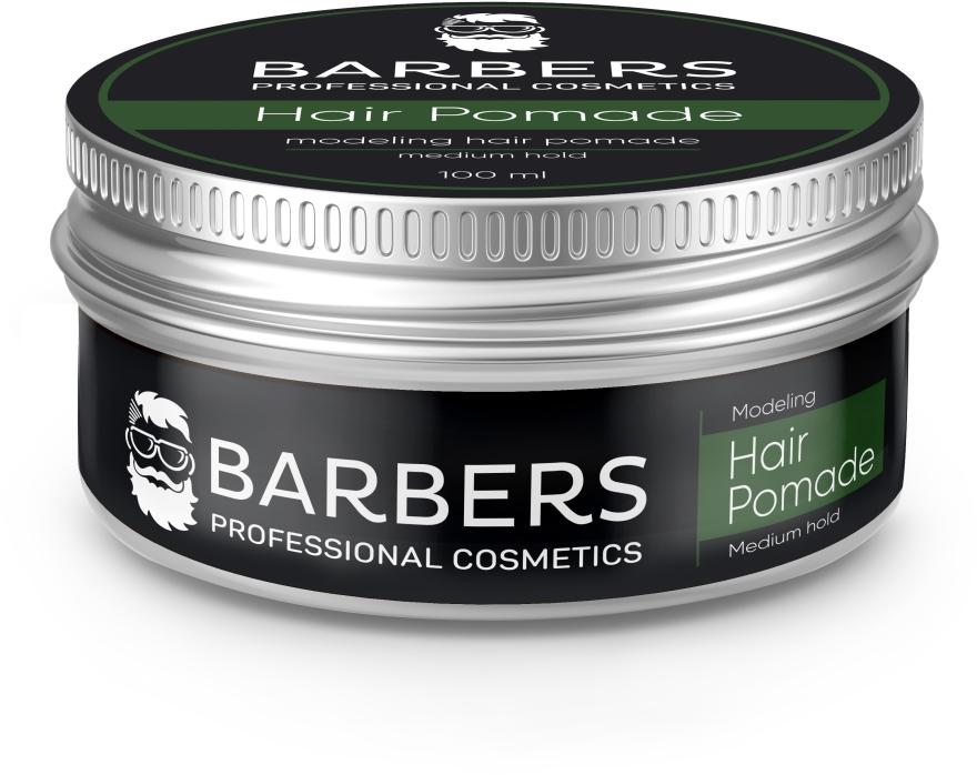 Помада для волос, средняя фиксация - Barbers Modeling Hair Pomade Medium Hold