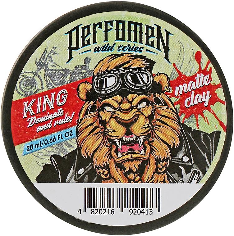 Матовая глина для укладки волос - Perfomen Wild Series King Matt Clay