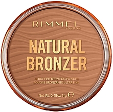 Духи, Парфюмерия, косметика Бронзирующая пудра - Rimmel Natural Bronzer Waterproof Powder