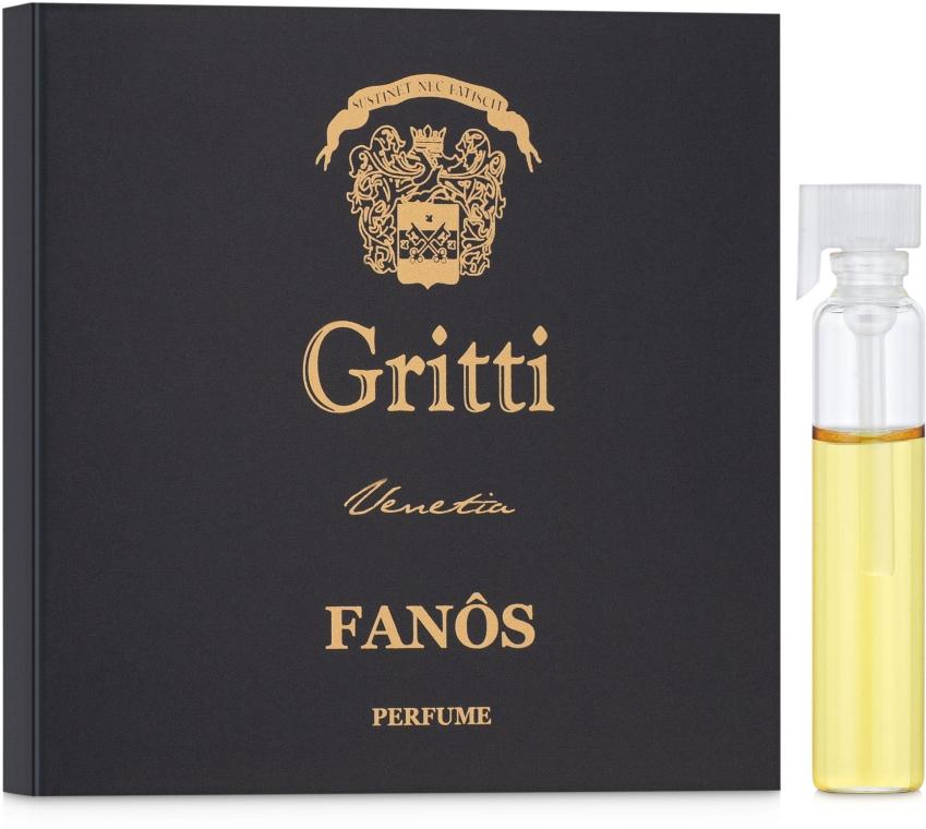 Dr. Gritti Fanos - Парфюмованная вода (пробник)