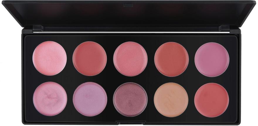 Профессиональная палитра помад/блесков на 10 цветов, L10-3 - Make Up Me