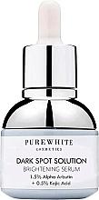 Духи, Парфюмерия, косметика Осветляющая сыворотка от темных пятен - Pure White Cosmetics Dark Spot Solution Brightening Serum