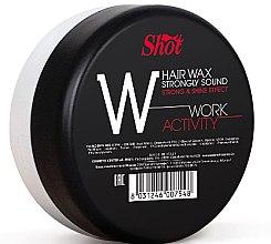 """Духи, Парфюмерия, косметика Воск сильной фиксации с эффектом блеска - Shot Hair Wax Strongly Sound Work Activity """"W"""""""
