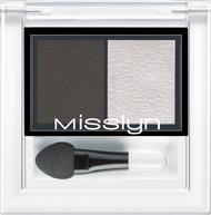 Духи, Парфюмерия, косметика Тени для век - Misslyn High Shine Duo Eyeshadow (тестер)