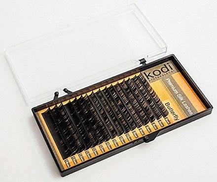 Накладные ресницы темно-коричневые Butterfly C 0.10 (6 рядов: 10/12) - Kodi Professional — фото N1