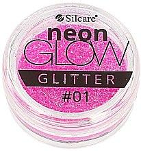 Духи, Парфюмерия, косметика Глиттер для ногтей - Silcare Brokat Neon Glow