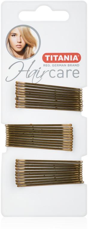 Заколки-невидимки для волос, 5 см, золотистые, 30 шт - Titania