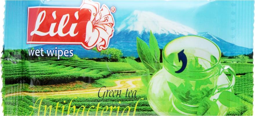 Влажные салфетки с ароматом зеленого чая - Lili