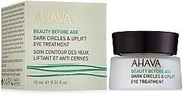 Духи, Парфюмерия, косметика Лифтинговый крем для кожи вокруг глаз - Ahava Beauty Before Age Dark Circles & Uplift Eye Treatment