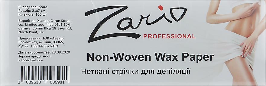 Полоски для депиляции из нетканого материала - Zario Professional Non-Woven Wax Paper