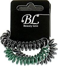 Духи, Парфюмерия, косметика Набор резинок для волос, 405004, темно-серая+зеленая+черная - Beauty Line