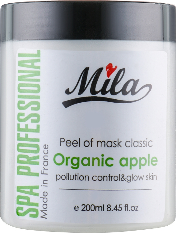 "Маска альгінатна класична порошкова ""Екстракт яблука"" - Mila Certified Pollution Control Peel Off Mask Organic Apple — фото N1"