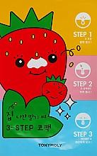 Духи, Парфюмерия, косметика Пластыри для носа против черных точек - Tony Moly Homeless Strawberry Seeds 3-step Nose Pack