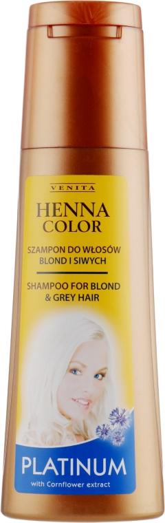 Шампунь для платиновых волос - Venita Henna Color Platinum Shampoo