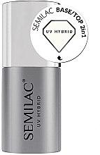 Духи, Парфюмерия, косметика База-топ 2 в 1 для гель-лака - Semilac UV Hybrid Base-Top