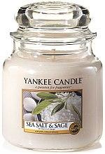 Духи, Парфюмерия, косметика Свеча в стеклянной банке - Yankee Candle Sea Salt and Sage