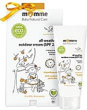 Духи, Парфюмерия, косметика Гипоаллергенный защитный крем - Momme Baby Natural Care All Weather Outdoor Cream SPF25