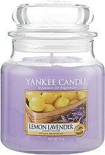 """Духи, Парфюмерия, косметика Ароматическая свеча в банке """"Лимон лаванда"""" - Yankee Candle Lemon Lavender"""