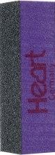 Духи, Парфюмерия, косметика Баф-пилка 3-х сторонняя, для искусственных ногтей, черно-фиолетовая - Heart Germany