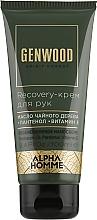 Парфумерія, косметика Зволожувальний крем для рук - Estel Professional Alpha Homme Genwood Recovery Hand Cream