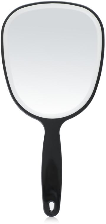 Зеркало с ручкой 28х13 см, черное - Titania