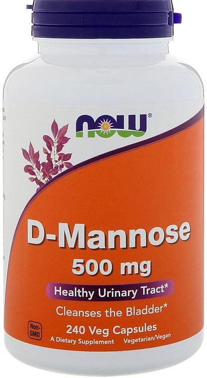 Натуральная добавка, 240 капсул - Now Foods D-Mannose