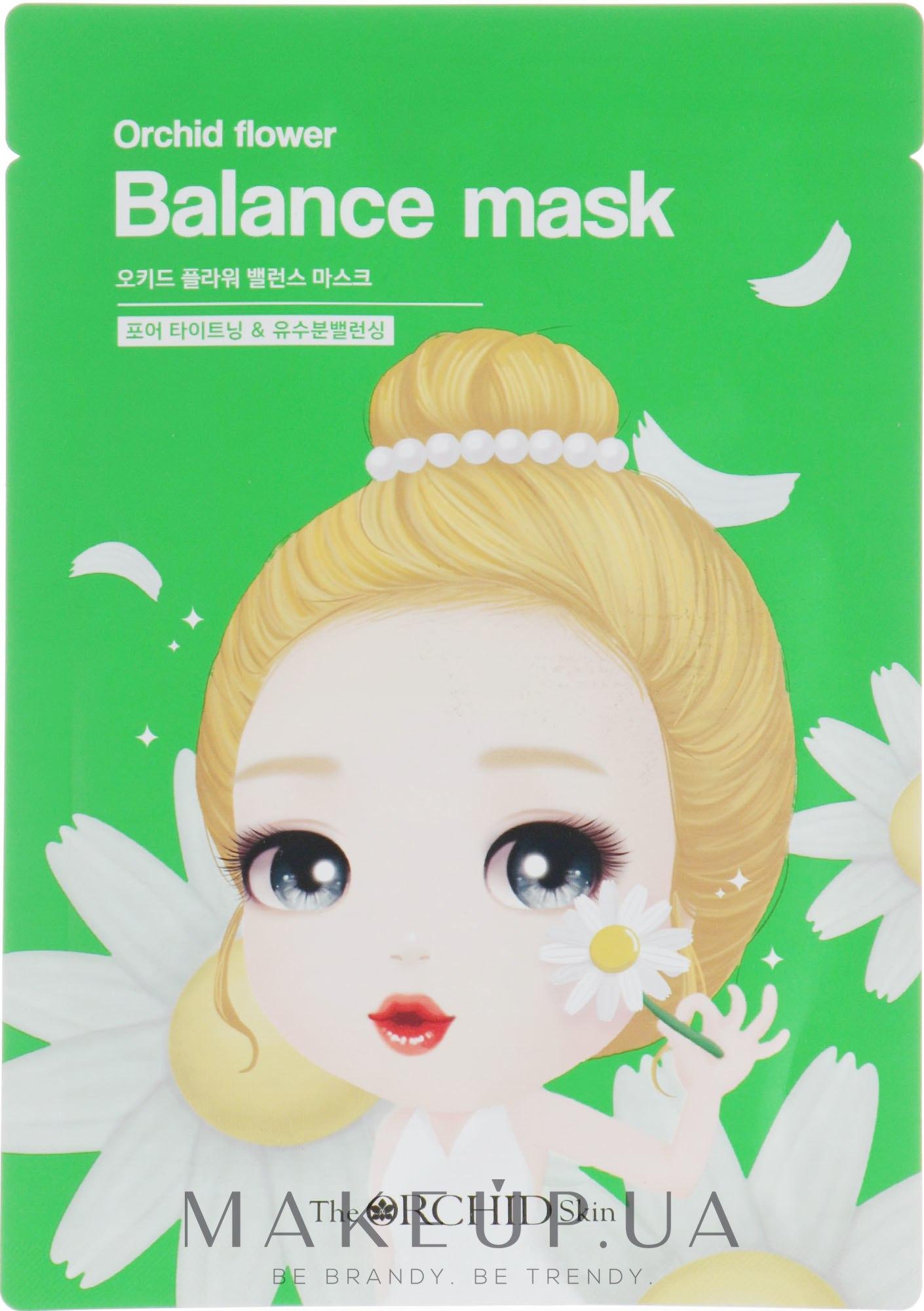Тканевая маска для лица, уменьшающая воспаления - The Orchid Skin Orchid Flower Balance Mask — фото 25g