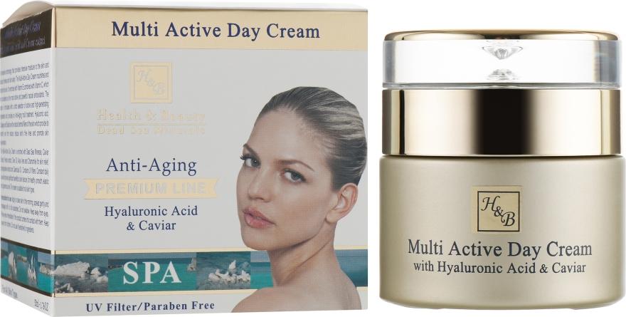 Мультиактивный дневной крем для лица с гиалуроновой кислотой - Health And Beauty Multi Active Day Cream