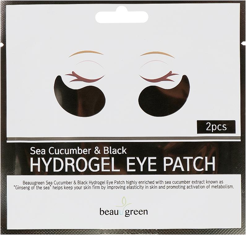Гидрогелевые патчи для глаз - BeauuGreen Sea Cucumber Black Hydrogel Eye Patch