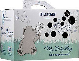 Парфумерія, косметика Набір - Mustela My Baby Bag Set (water/300ml + gel/shm/200ml + f/cr/40ml + b/cr/50ml + wipes/25pcs + bag)