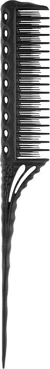 Расческа для начеса, 218 мм, черная - Y.S.Park Professional 150 Tail Combs Black