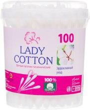 Парфумерія, косметика Ватні палички в банці, 100 шт - Lady Cotton