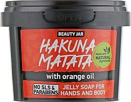 "Духи, Парфюмерия, косметика Мыло-желе для рук и тела ""Hakuna Matata"" - Beauty Jar Jelly Soap For Hands And Body"