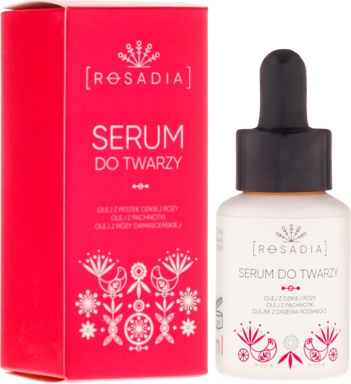 Сыворотка для лица с маслами шиповника и дамасской розы - Rosadia Face Serum