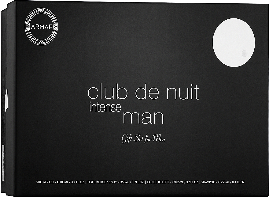 Armaf Club De Nuit Intense Man - Набор (edt/105ml + deo/spray/200ml + sh/gel/100ml + sh/250ml)