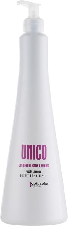 Восстанавливающий шампунь для волос - Dott. Solari Unico Shampoo
