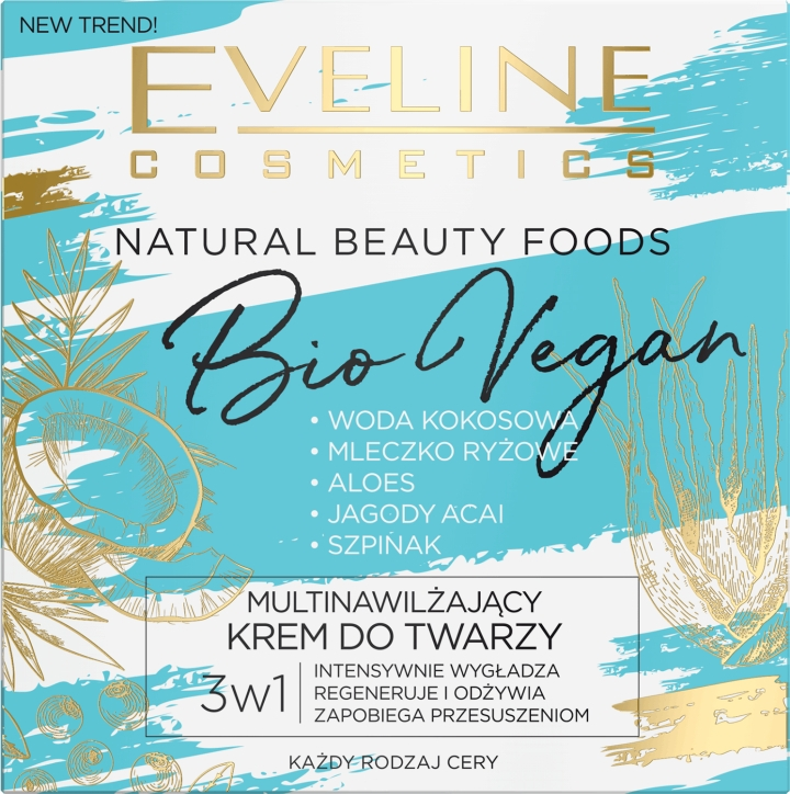 Увлажняющий крем для лица - Eveline Cosmetics Natural Beauty Foods Bio Vegan